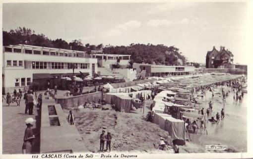 O Palm Beach nos anos 60, reparem que ainda não havia o Hotel Estoril-Sol