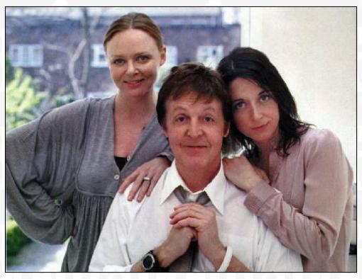 As filhas de Paul MacCartney, Stella e Mary